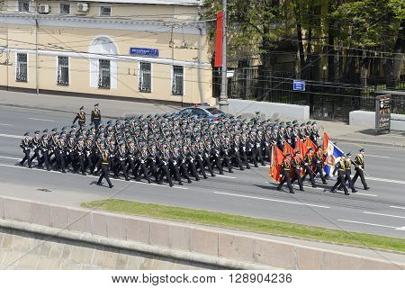 The Troops In Dress Uniform Marching
