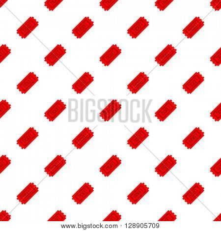 Movie Cinema ticket seamless pattern background. Isolated white background. Can be used for wrapping paper