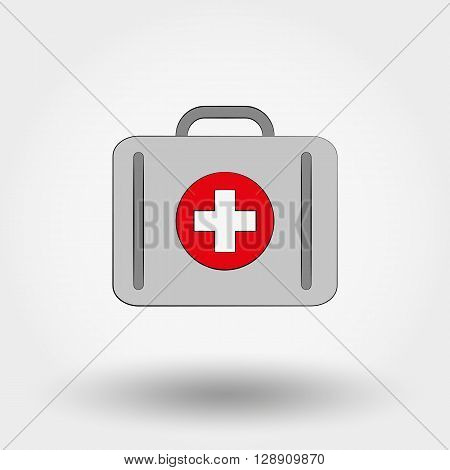 Suitcase first aid Icon for web and mobile application. Vector illustration on a white background.