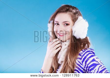 Young Woman In Wintertime.