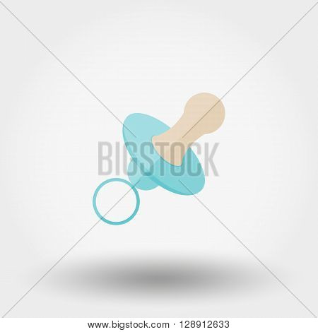 Nipple. Icon for web and mobile application. Vector illustration on a white background. Flat design style.