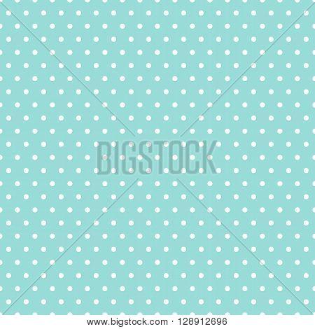Polka dots. Pattern. Seamless vector illustration. Swatch inside.