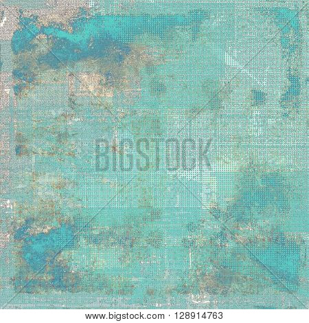 Abstract dirty texture or grungy background. With old style decorative elements and different color patterns: yellow (beige); blue; gray; cyan