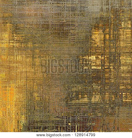 Colorful grunge background, tinted vintage style texture. With different color patterns: yellow (beige); brown; gray