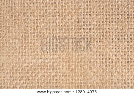 Yellow sack cloth textured for background closeup