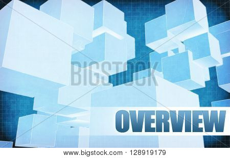 Overview on Futuristic Abstract for Presentation Slide