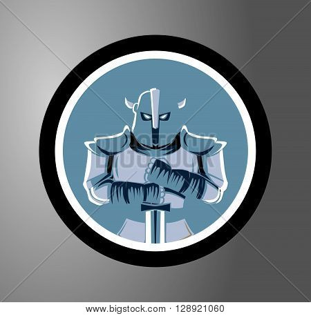 Knights Circle sticker .eps10 editable vector illustration design