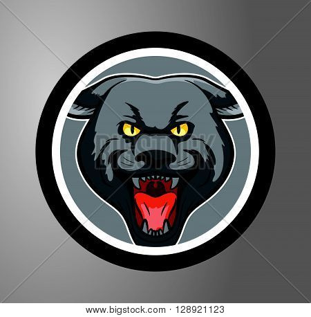 Panthers Circle sticker .eps10 editable vector illustration design