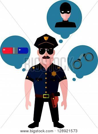 Police officer illustration vector .eps10 editable vector illustration design