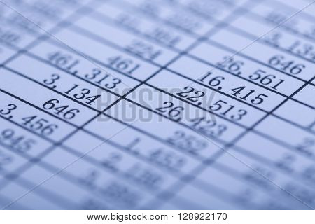 Closeup Shot Of Balance Sheet