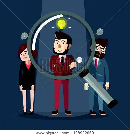 Businessman pick up .eps10 editable vector illustration design