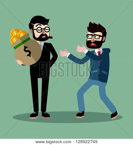 man force payment .eps10 editable vector illustration design