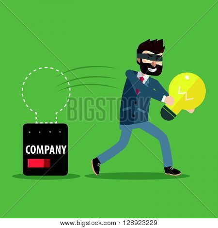 Stealing idea from corporate .eps10 editable vector illustration design