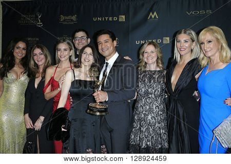 LOS ANGELES - May 1: Mario Lopez, Extra Team at The 43rd Daytime Emmy Awards Gala at the Westin Bonaventure Hotel on May 1, 2016 in Los Angeles, California