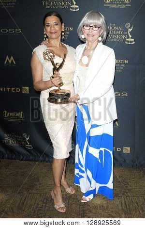 LOS ANGELES - May 1: Sonia Manzano, Rita Moreno at The 43rd Daytime Emmy Awards Gala at the Westin Bonaventure Hotel on May 1, 2016 in Los Angeles, California