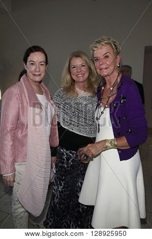 PALM SPRINGS - APR 27: Alba Francesca, Meg Thomas, Donna MacMillan at a cultivation event for The Actors Fund at a private residence on April 27, 2016 in Palm Springs, California