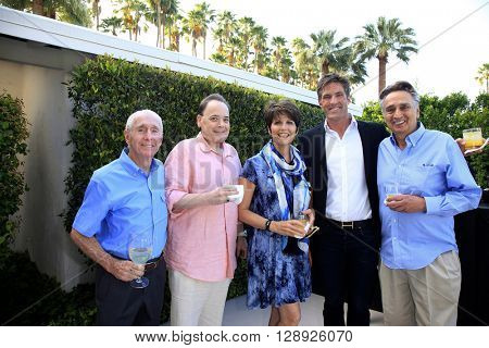 PALM SPRINGS - APR 27: Lucie Arnaz, Grafton Doyle, John Bowab at a cultivation event for The Actors Fund at a private residence on April 27, 2016 in Palm Springs, California