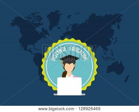 distance education design, vector illustration eps10 graphic