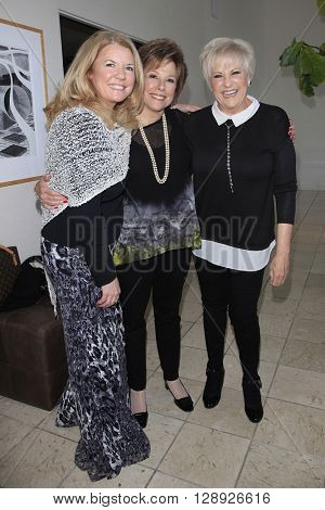 PALM SPRINGS - APR 27: Meg Thomas, Guest, Lorna Luft at a cultivation event for The Actors Fund at a private residence on April 27, 2016 in Palm Springs, California