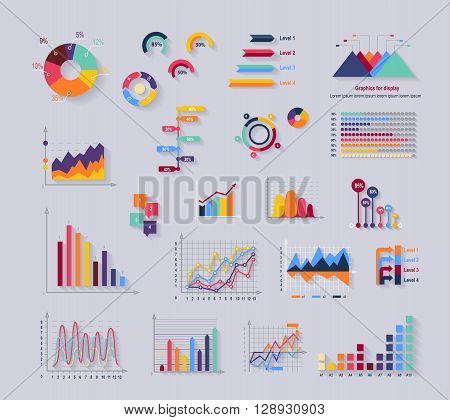 Data tools finance diagram and graphic. Chart and graphic, business diagram data finance, graph report, information data statistic, infographic analysis tools vector illustration