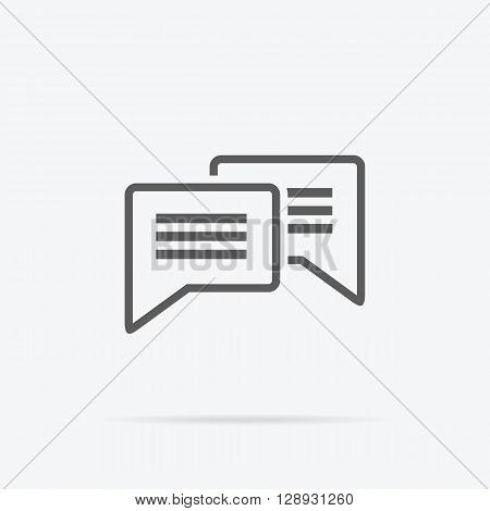 Contact concept message and speech bubble icon. Conceptual banner envelope contacts and message. Incoming and outbox alerts. Digital communication dialogue and correspondence. Vector illustration