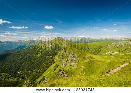 Italy beauty, Dolomites Passo de Giau in summer.