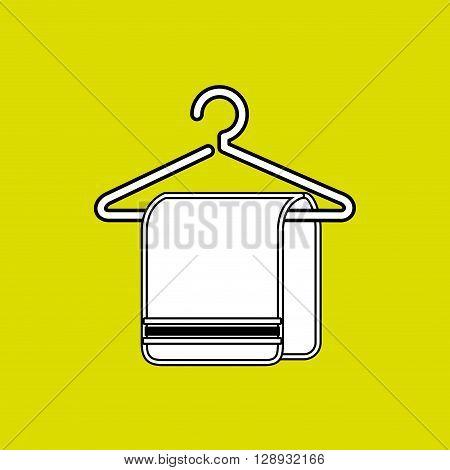 towel hanging on hook design, vector illustration eps10 graphic