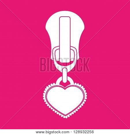 zipper isolated design, vector illustration eps10 graphic