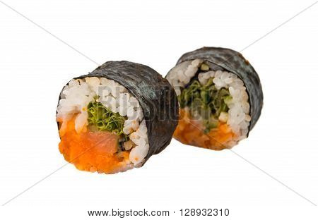 sushi isolated on white background, nobody, prawns,