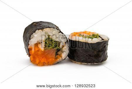 sushi isolated on white background grouper, isolated
