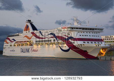 TALLINN, ESTONIA - JULY 31, 2013: The ferry