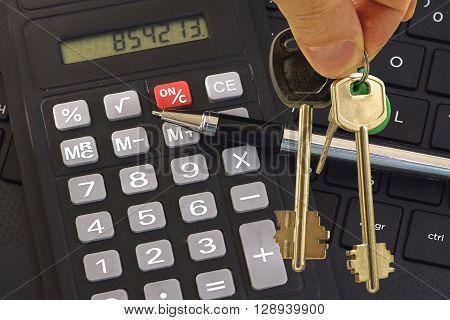 House keys and Desk .House keys and Desk