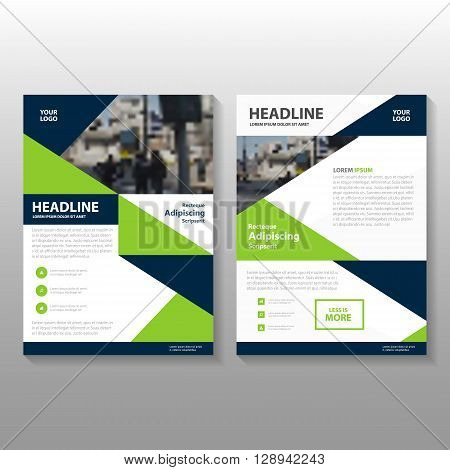 Green Black Vector Business proposal Leaflet Brochure Flyer template design, book cover layout design