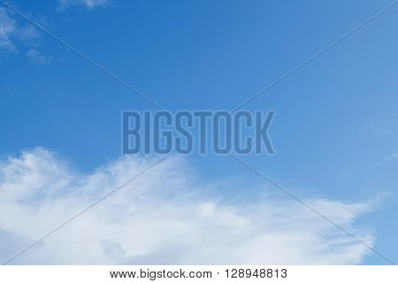 Blue Sky And White Cloud, Clear Weather Sky Background