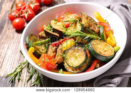 fried vegetable and rosemary