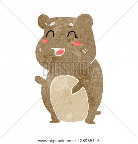 freehand retro cartoon cute hamster