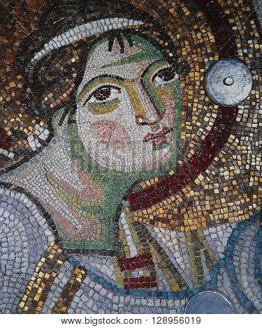Mosaic  In Church Of Hosios David, Thessaloniki, Greece