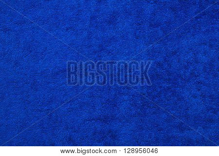 clean blue terry towel texture  background  closeup