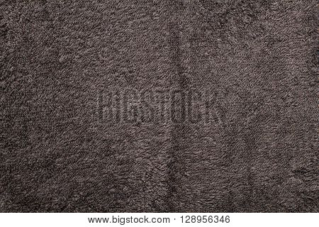 black terry towel texture background close up