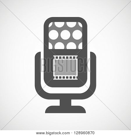 Isolated Mic Icon With   A Photographic 35Mm Film Strip
