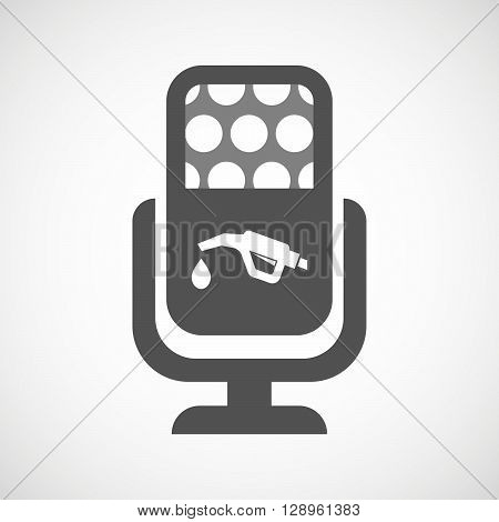 Isolated Mic Icon With  A Gas Hose Icon