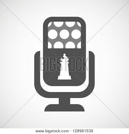 Isolated Mic Icon With A Bishop    Chess Figure