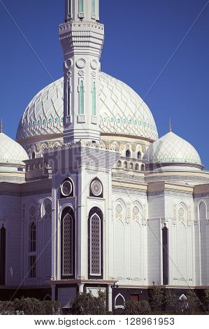 Detail of building a mosque in Astana
