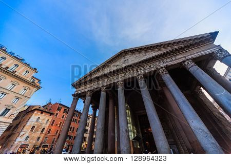 ROME - January 6: Magnificent Roman fountains 6 2016 in Rome Italy.