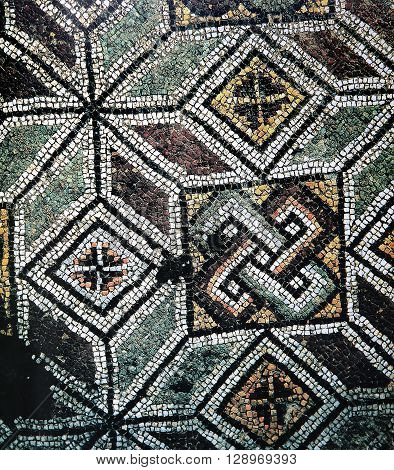 Mosaic In Basilica Of Hagia Sophia, Istanbul