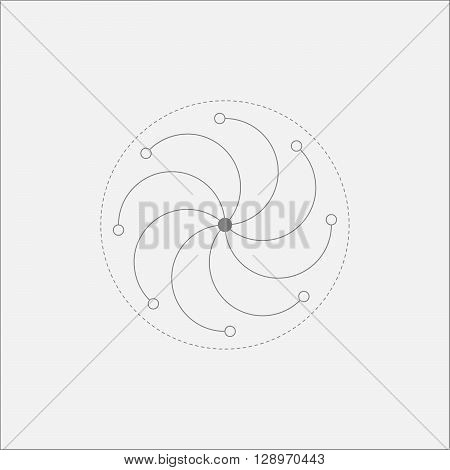 Abstract Galactic Vortex Minimal Art Odd Design