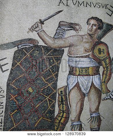 Roman Mosaic In Medina Of Sousse, Tunisia