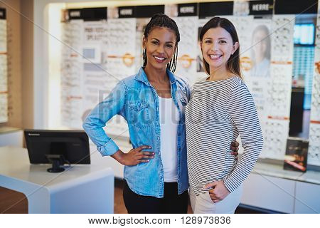 Multiracial Entrepreneurs In Their Shop