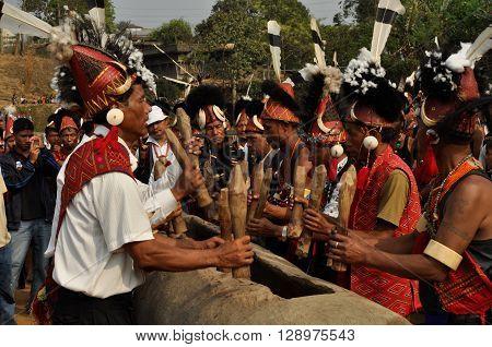 Men At Ceremony