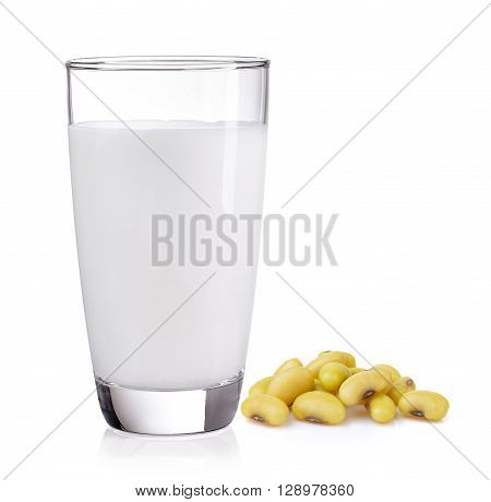 soybean and milk isolated on a white background